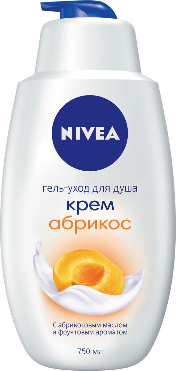 Гель-уход для душа Nivea Крем Абрикос, 750 мл nivea гель уход для душа крем какао 250 мл