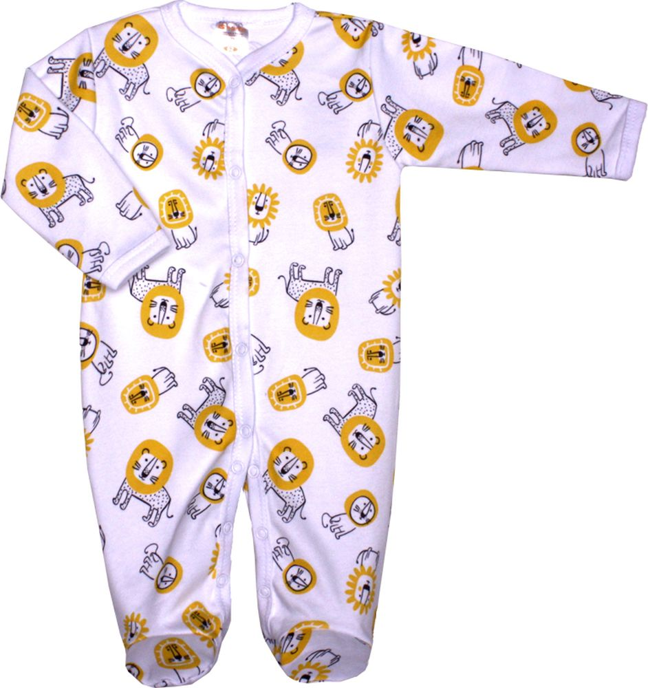 Комбинезон домашний детский КотМарКот Львенок, цвет: желтый. 6244. Размер 62