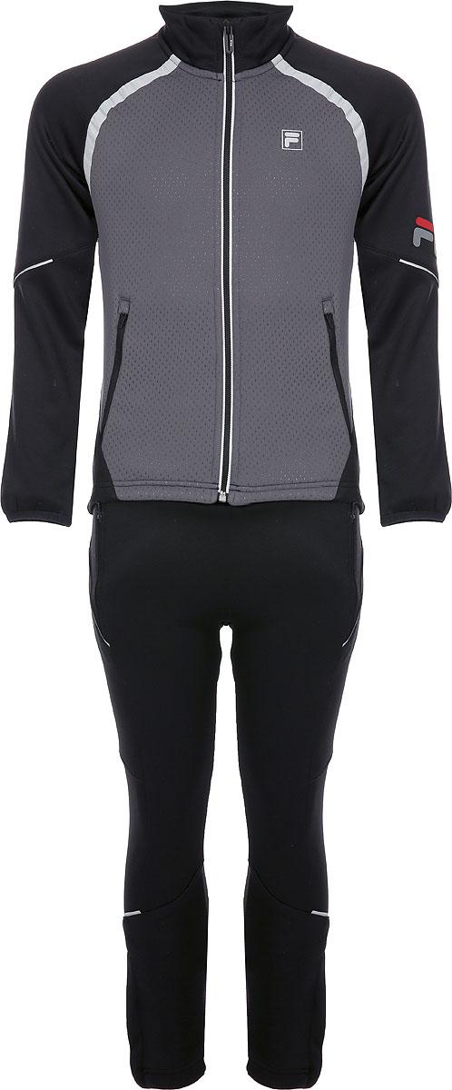 Спортивный костюм для мальчика Fila, цвет: черный. A19AFLSUB02-99. Размер 164