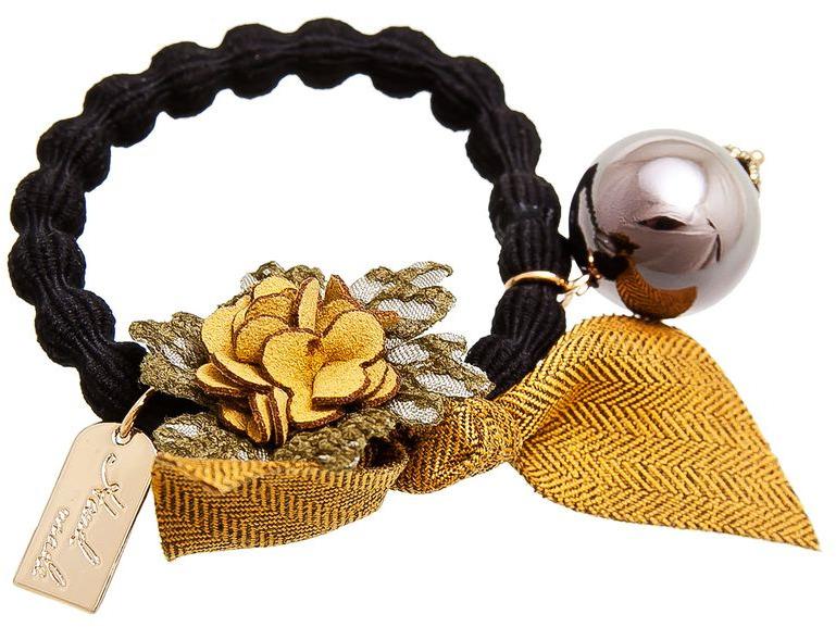 все цены на Резинка для волос Aiyony Macie, цвет: желтый, зеленый, черный. H802514 онлайн