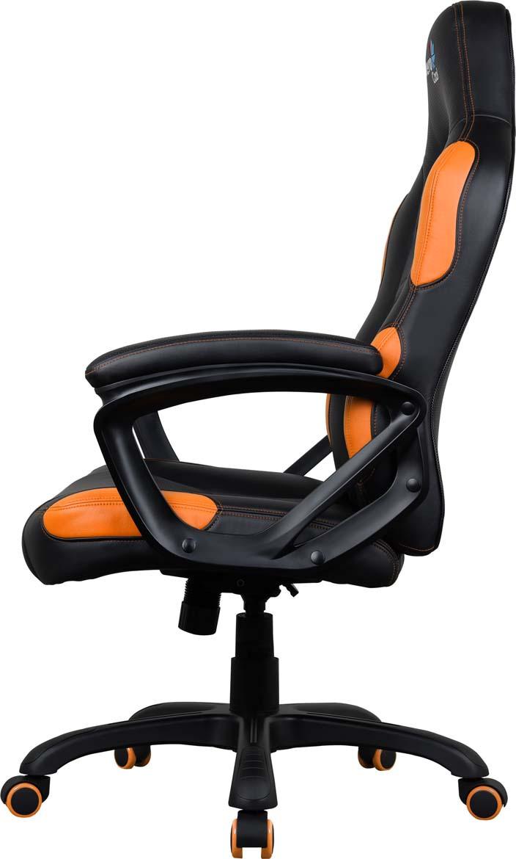 Кресло игровое Aerocool AC80C AIR, с перфорацией, до 130 кг, цвет черно-оранжевый Aerocool