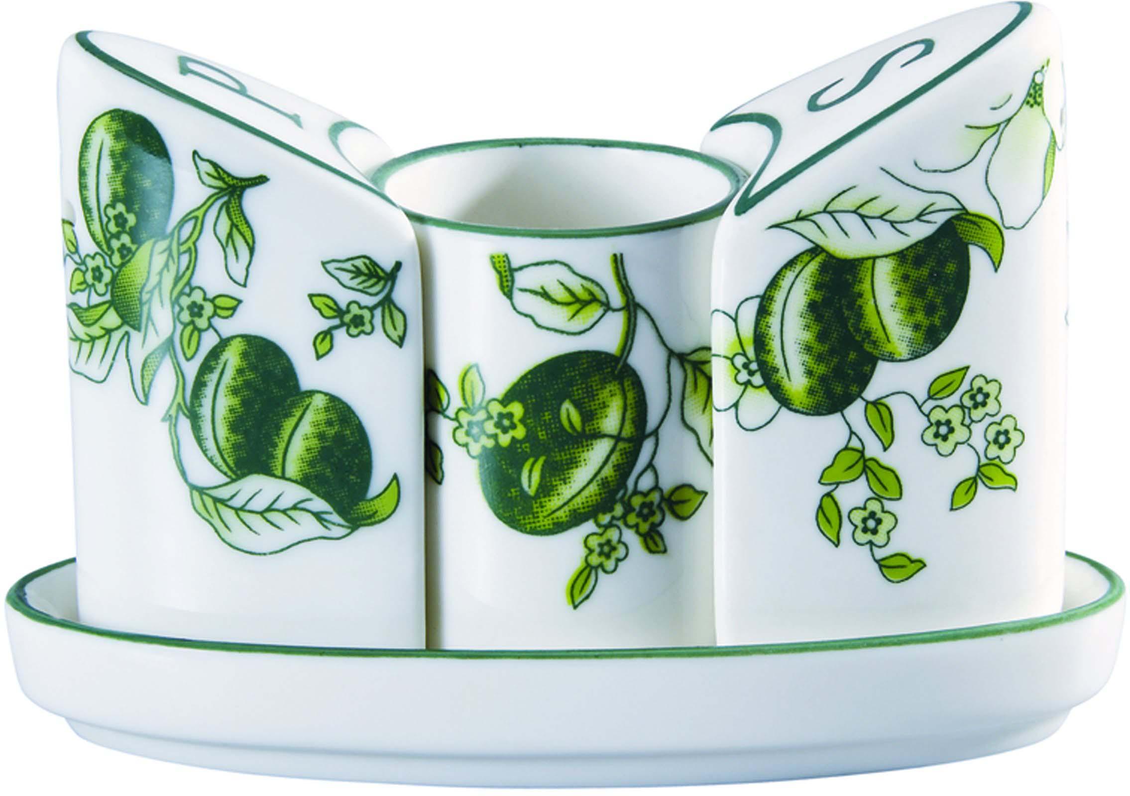 Набор для специй Bekker выполнен из керамики и подойдёт для повседневной и праздничной сервировки. Дополните стол текстилем и салфетками в тон, чтобы получить элегантное убранство с яркими акцентами.
