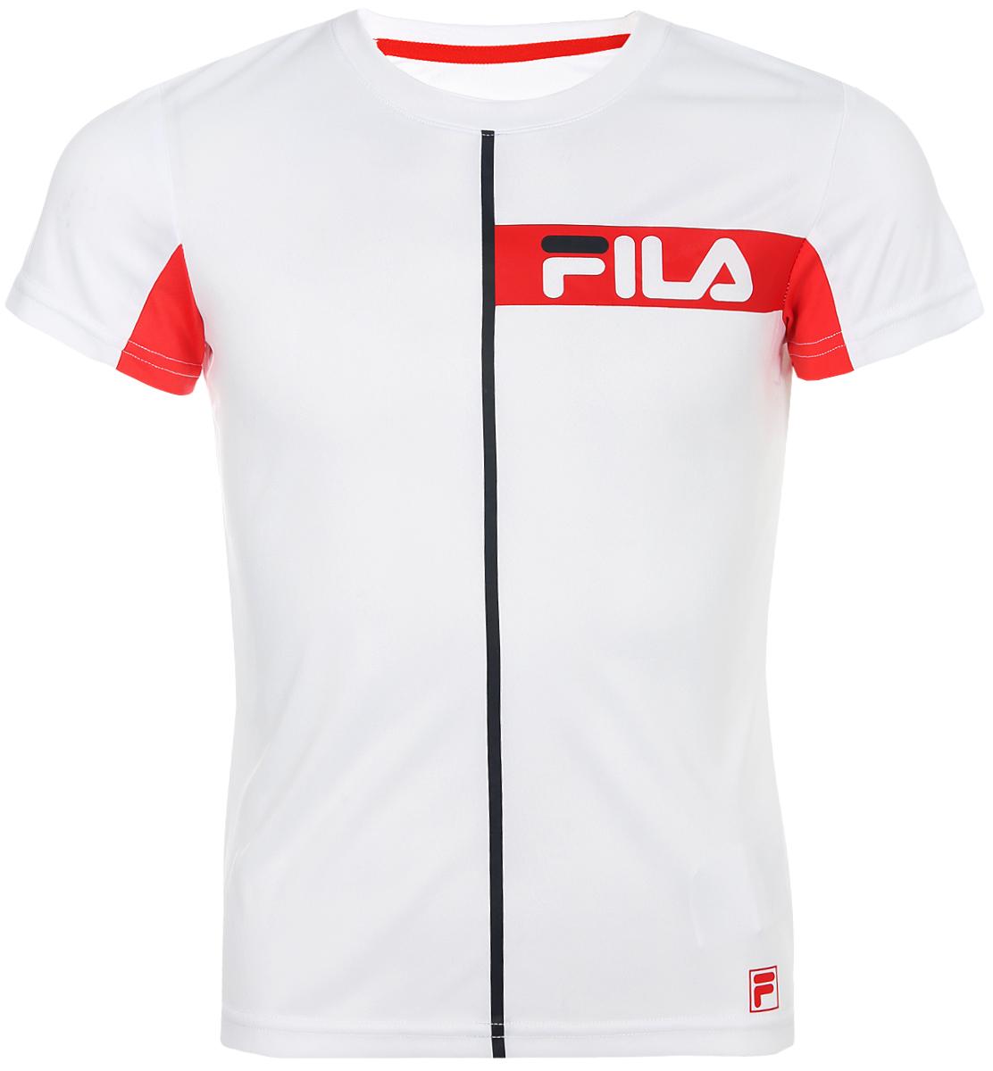 Футболка для мальчика Fila, цвет: белый. A19AFLTSB05-00. Размер 170 футболка для девочки fila цвет белый a19afltsg02 00 размер 164