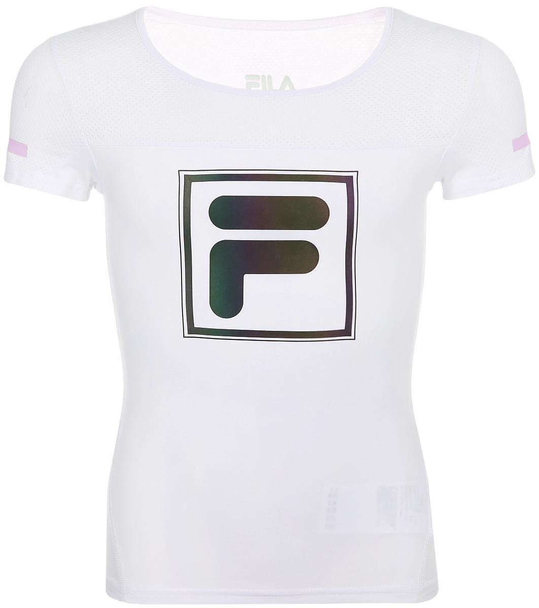 Футболка для девочки Fila, цвет: белый. A19AFLTSG03-00. Размер 164 футболка для девочки fila цвет белый a19afltsg02 00 размер 164