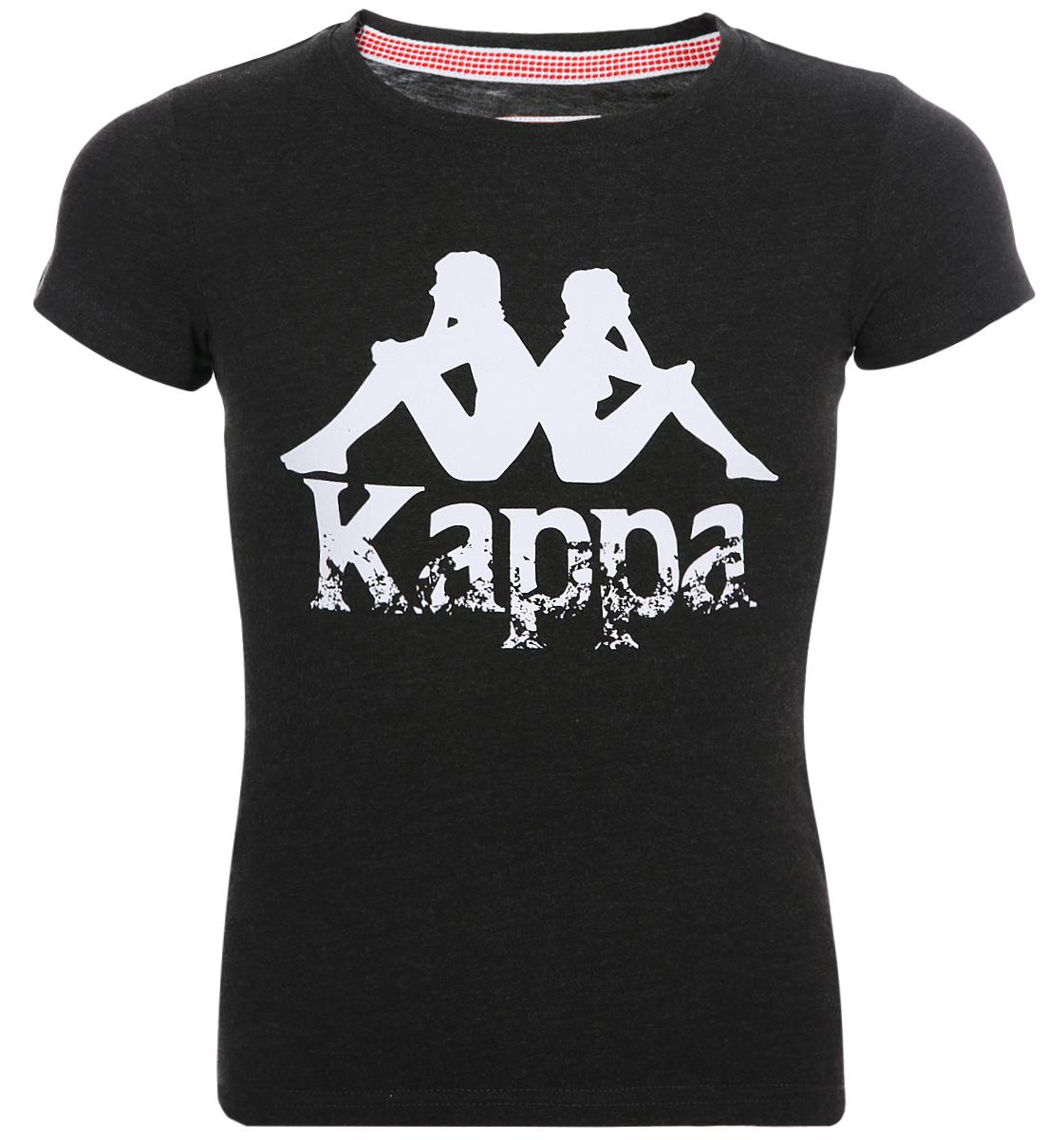 Футболка для девочки Kappa, цвет: темно-серый. 3032N90-4A. Размер 164