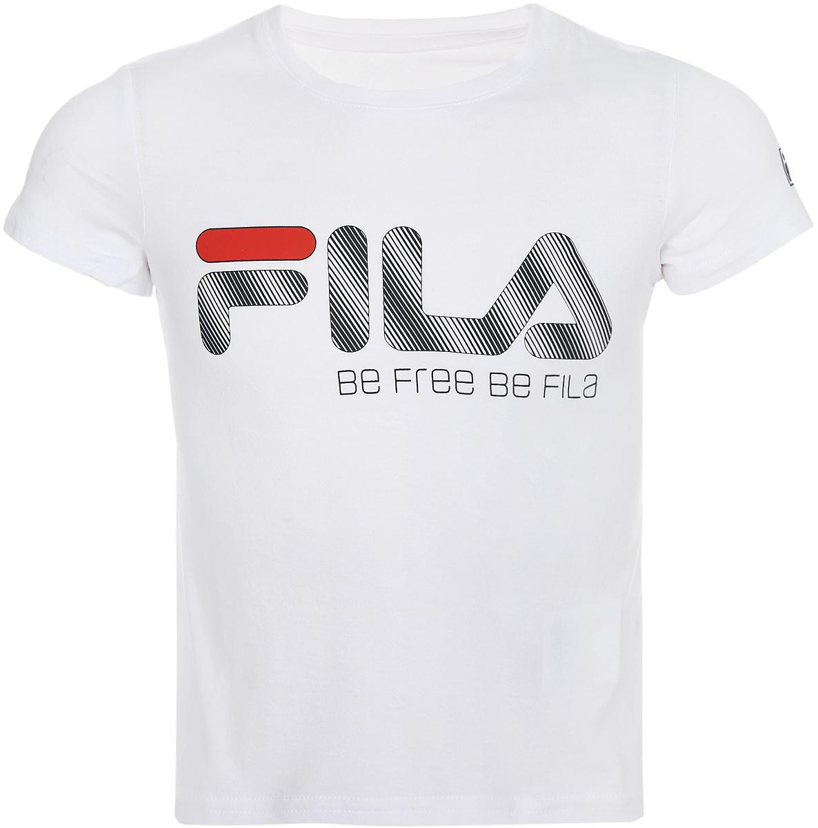 Футболка для мальчика Fila, цвет: белый. A19AFLTSC01-00. Размер 104 футболка для девочки fila цвет белый a19afltsg02 00 размер 164