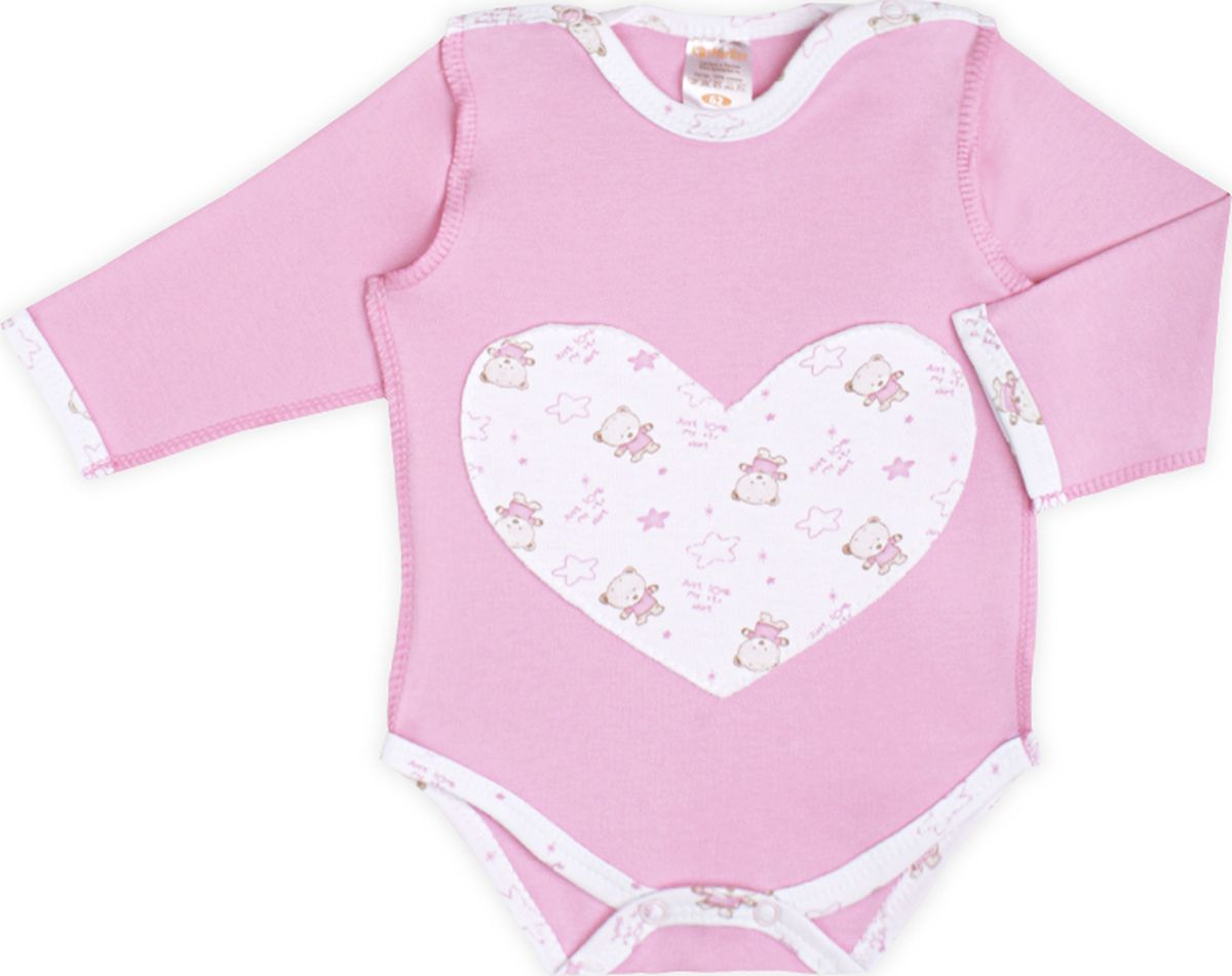 Боди детское КотМарКот Мишки, цвет: розовый. 9141. Размер 62