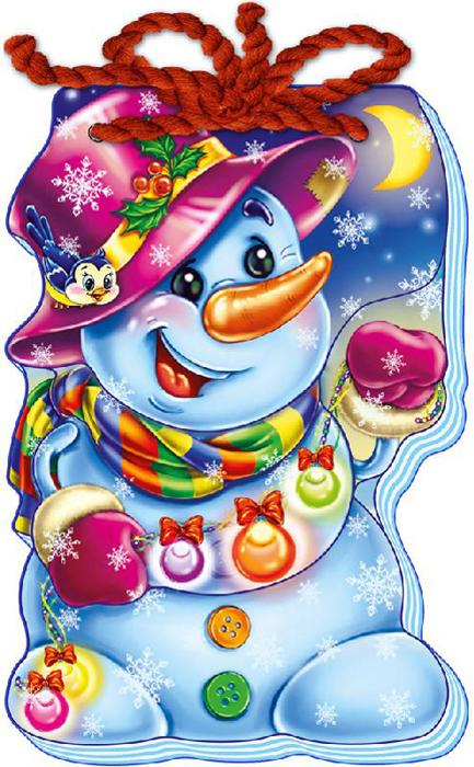 С новым годом. Снеговик сумка printio дед мороз и снегурочка с новым годом