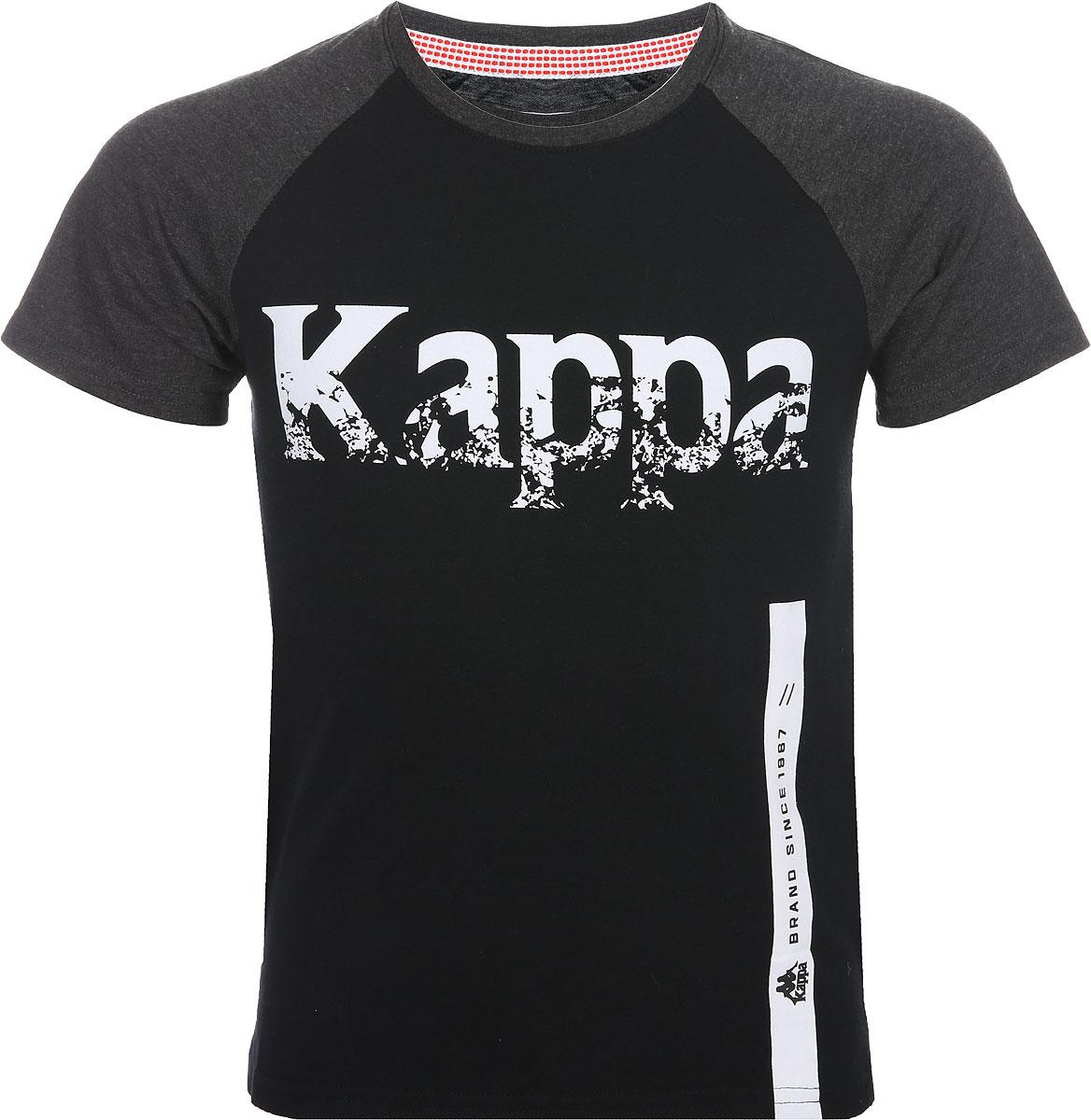 Футболка для мальчика Kappa, цвет: черный. 3032NA0-99. Размер 170