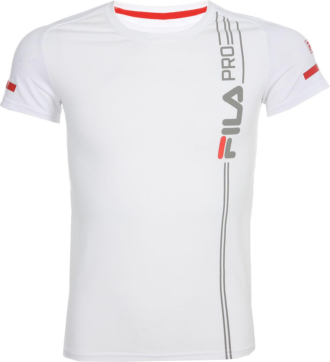 Футболка для мальчика Fila, цвет: белый. A19AFLTSB04-00. Размер 170 футболка для девочки fila цвет белый a19afltsg02 00 размер 164