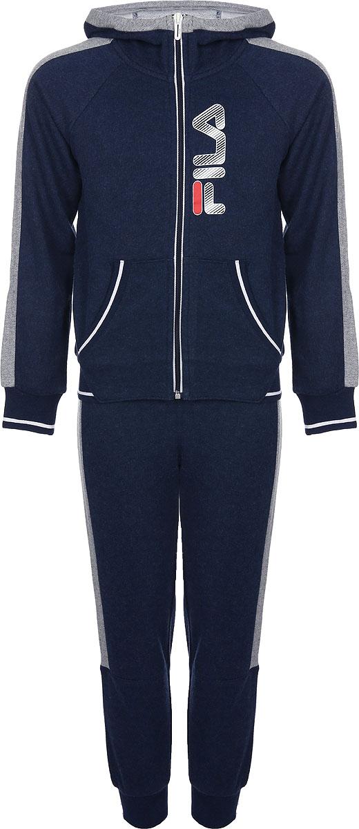 Спортивный костюм для мальчика Fila, цвет: синий. A19AFLSUB01-3M. Размер 170 костюм маленькой обезьянки для мальчиков 32 34