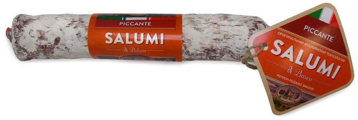Колбаса сыровяленная полусухая Salumi di Bosco Салями с острым перцем, 200 г
