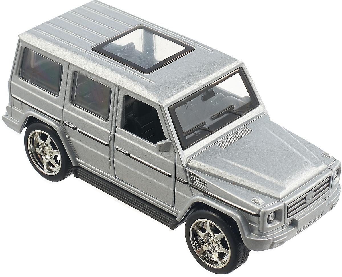 Машинка инерционная ТехноПарк Внедорожник, цвет: серебристый технопарк машинка инерционная lada 111 спорт