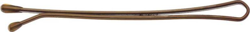 Невидимки Dewal, цвет: коричневый, прямые 50 мм, 200 г невидимки dewal серебристые прямые 60мм 200 гр в коробке