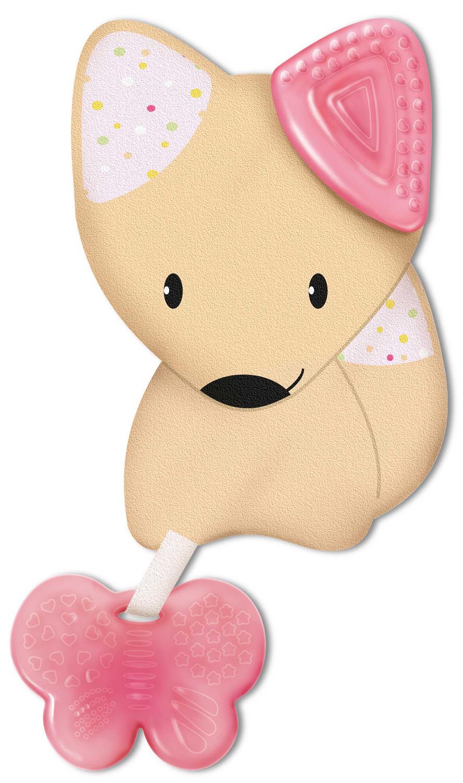 Нагрудник Chicco Fresh Friends 3-в-1, с прорезывателем для зубов, от 4 месяцев, цвет: розовый игровые центры chicco гимнастический 3 в 1 deluxe