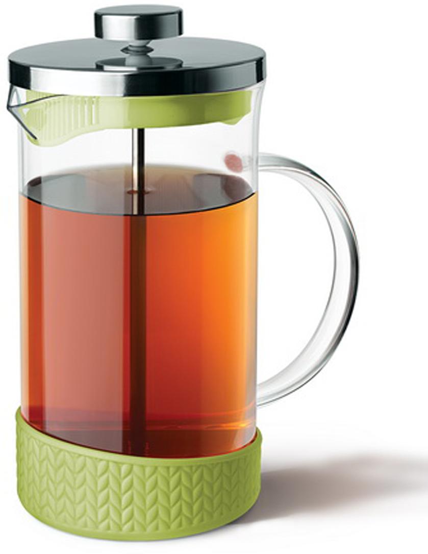Чайник поршневой Apollo Genio Suomi - это отличный заварочный чайник для ежедневного использования, который позволит быстро приготовить ароматный чай или кофе.Колба выполнена из боросиликатного стекла. Это стекло сочетает в себе такие свойства, как механическая стойкость, жаропрочность и светопрозрачность.Подставка изготовлена из пищевого силикона, которая не нагревается.Современный дизайн полностью соответствует последним модным тенденциям в создании кухонной утвари.