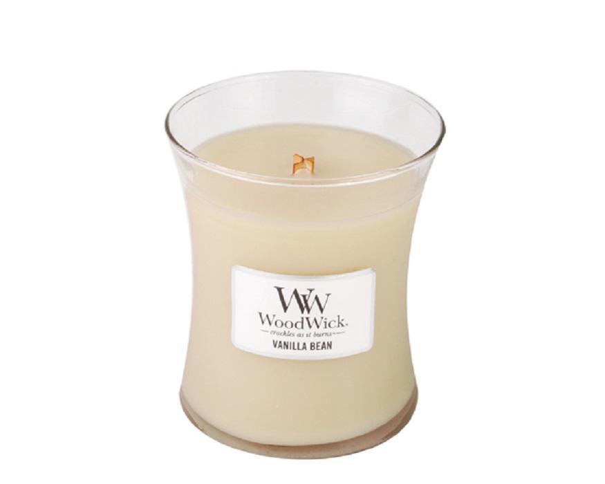 Ароматическая свеча Woodwick Натуральная ваниль, средняя свеча ароматизированная woodwick натуральная ваниль высота 18 см