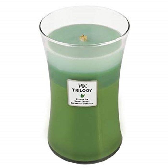 Ароматическая свеча Woodwick Лесная прогулка, большая свеча ароматизированная woodwick лесная прогулка тройная высота 18 см