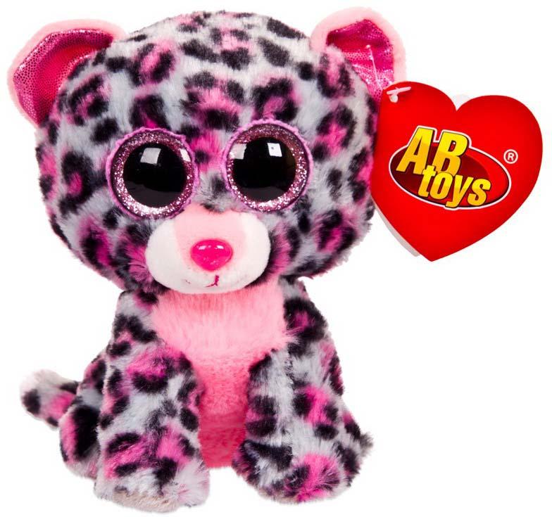 Игрушка мягкая Abtoys Леопард, цвет: серый, 15 см abtoys мягкая игрушка леопард 10 см
