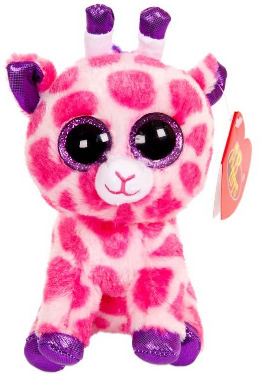 Игрушка мягкая Abtoys Жираф, цвет: розовый, 15 см классические abtoys мягкая игрушка abtoys жираф 14 см