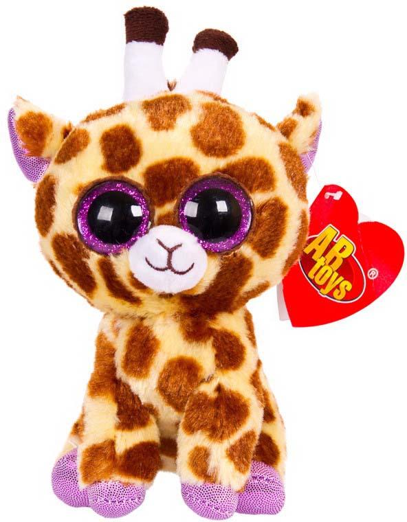 Игрушка мягкая Abtoys Жираф, цвет: коричневый, 15 см классические abtoys мягкая игрушка abtoys жираф 14 см