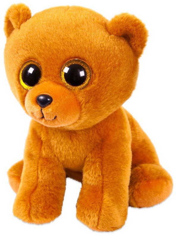 Игрушка мягкая Abtoys Медвежонок, цвет: бурый, 24 см мягкая игрушка dragons крушиголов цвет зеленый бордовый 24 см