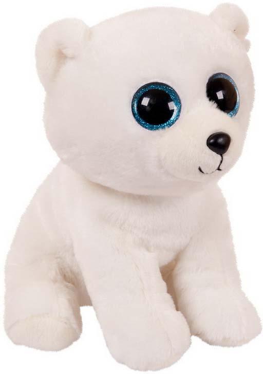 Игрушка мягкая Abtoys Медвежонок, цвет: белый, 24 см мягкая игрушка dragons крушиголов цвет зеленый бордовый 24 см