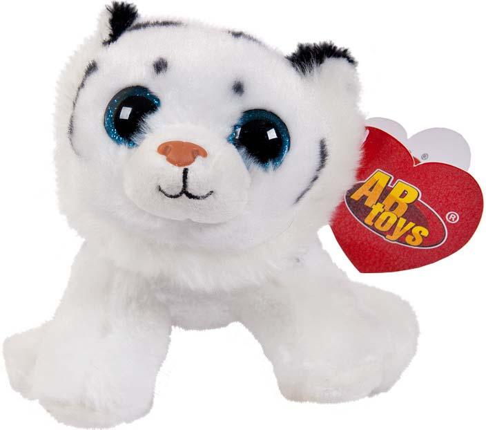 Игрушка мягкая Abtoys Тигренок, цвет: белый, 14 см abtoys мягкая игрушка леопард 10 см