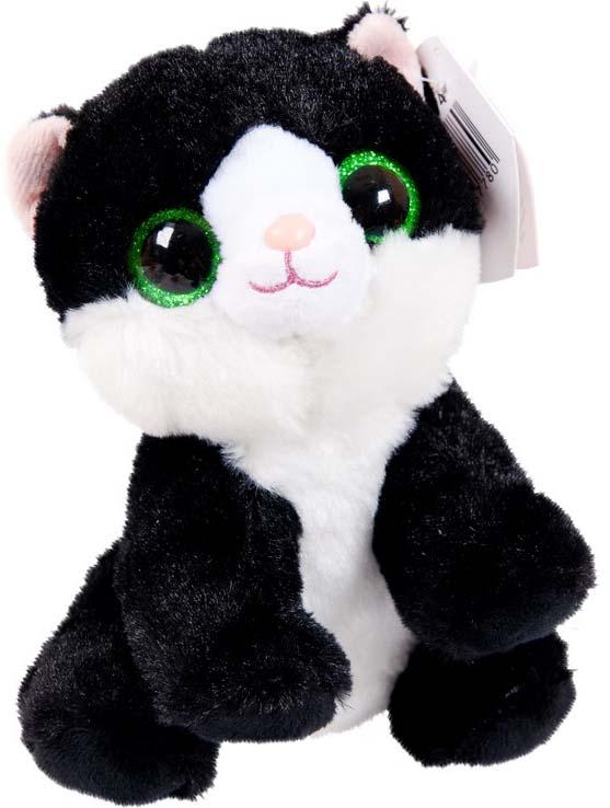 Игрушка мягкая Abtoys Кот, цвет: черный, 15 см abtoys мягкая игрушка леопард 10 см