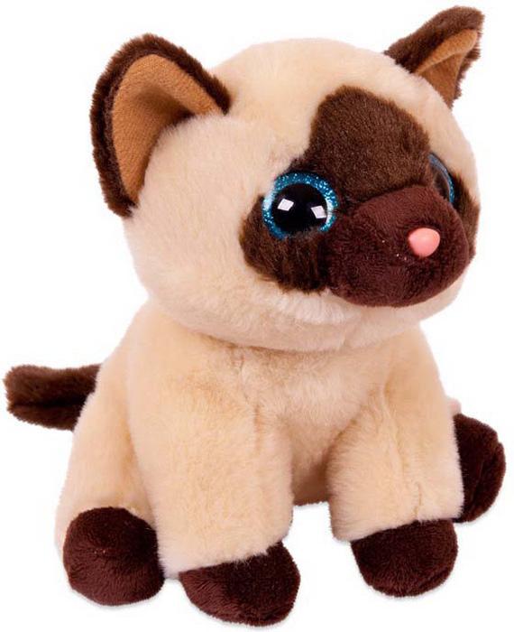 Игрушка мягкая Abtoys Сиамский кот, 21 см abtoys мягкая игрушка леопард 10 см