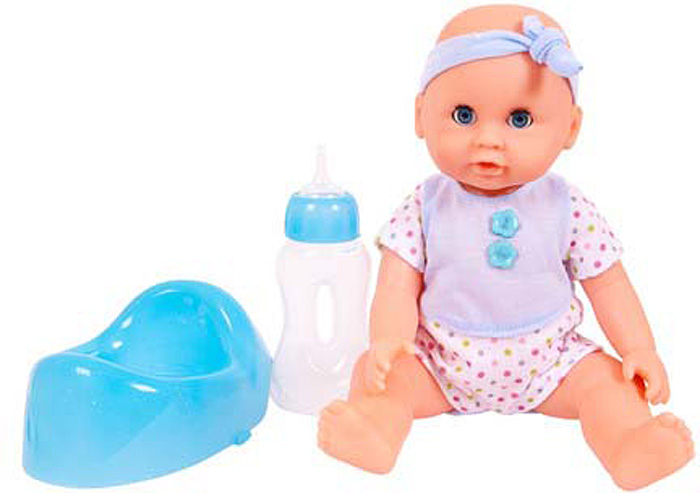 Пупс Abtoys, пьет и писает, 25 см. PT-01003 кукла abtoys пупс мой малыш pt 00616