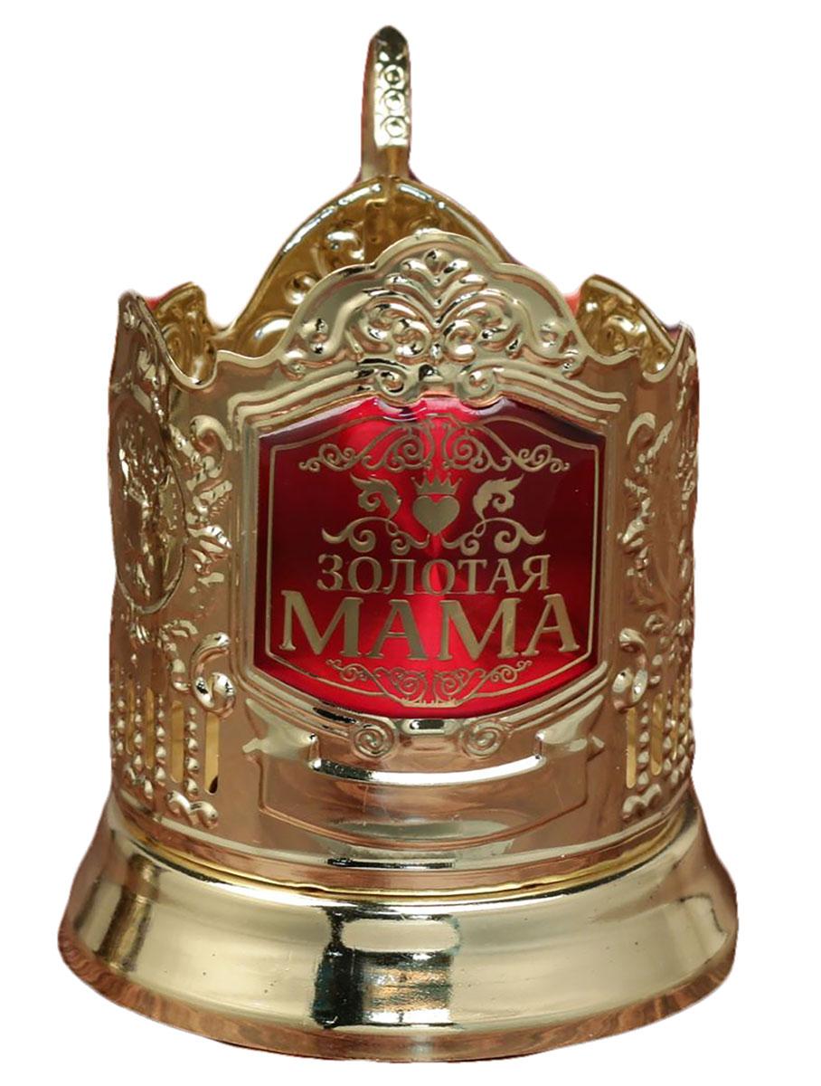 Подстаканник Золотая мама, золото, 10,2 х 11 см. 1894507