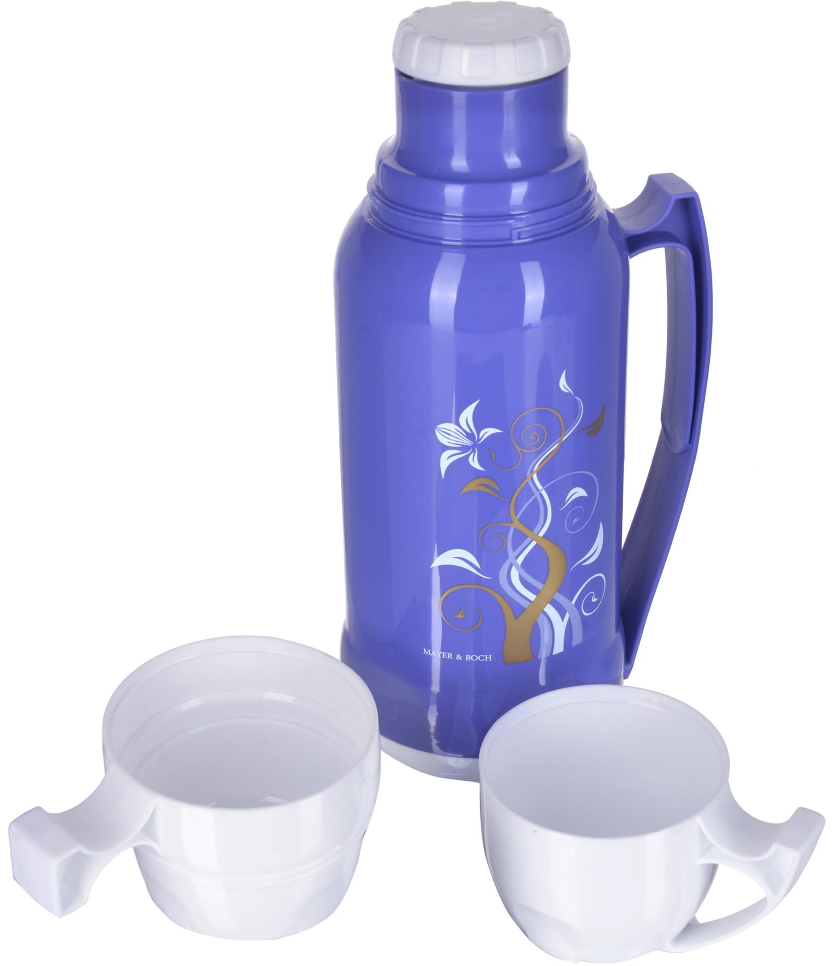 Термос Mayer & Boch с цветным пластиковым корпусом и стеклянной внутренней колбой, является самым востребованным среди покупателей. По своим теплообменным характеристикам термос со стеклянной колбой не уступает термосам со стальными колбами, но благодаря свойствам стекла, в него можно наливать напитки с сильными, устойчивыми ароматами. Термос оснащен большой удобной ручкой и 2-мя пластиковыми кружками. Завинчивающаяся герметичная крышка предохраняет от проливаний. Термос способен сохранять необходимую температуру до 24-х часов. Легко и просто моется. Термос Mayer & Boch пригодится в любой ситуации: будь то поход, поездка или просто чаепитие.