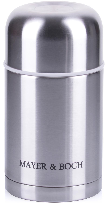 Термос Mayer & Boch выполнен из качественной нержавеющей стали (CrNi 18/10), которая не вступает в реакцию с содержимым термоса и не изменяет вкусовых качеств напитка. Двойная стенка из нержавеющей стали сохраняет температуру на более длительный срок. Вакуумный закручивающийся клапан предохраняет от проливаний. Крышку можно использовать как чашку. Данная модель термоса прочная, долговечная и небьющаяся. Прочный и надежный термос станет незаменимым помощником для рыболовов, охотников, а так же его оценят путешественники и туристы. Легко и просто моется.