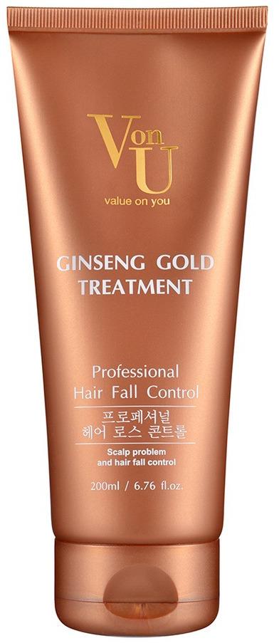 Средство для лечения волос Von-U Ginseng Gold, 200 мл