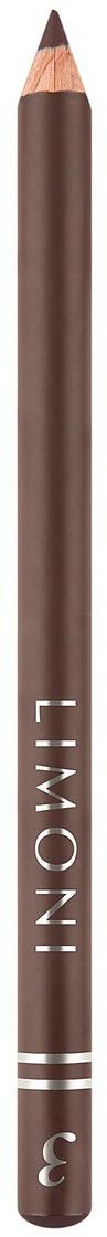 Карандаш для век Limoni Четкость, тон 03, 1,7 г limoni eyeliner pencil precision grey карандаш для век тон 02 серый 1 7 гр