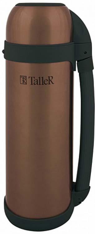 Термос Taller Брэдфорд, цвет: коричневый, 1,5 л кнопочный переключатель new 1 19 led 12v 37180 37181