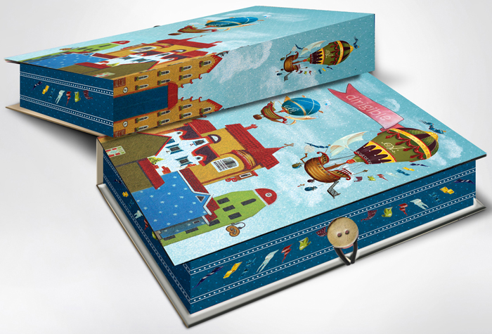 Коробка подарочная Magic Home Дирижабли в лето. 42375 дирижабли