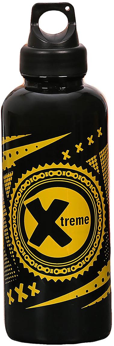 Бутылка для воды Командор Extreme, цвет: черный, желтый, 600 мл командор