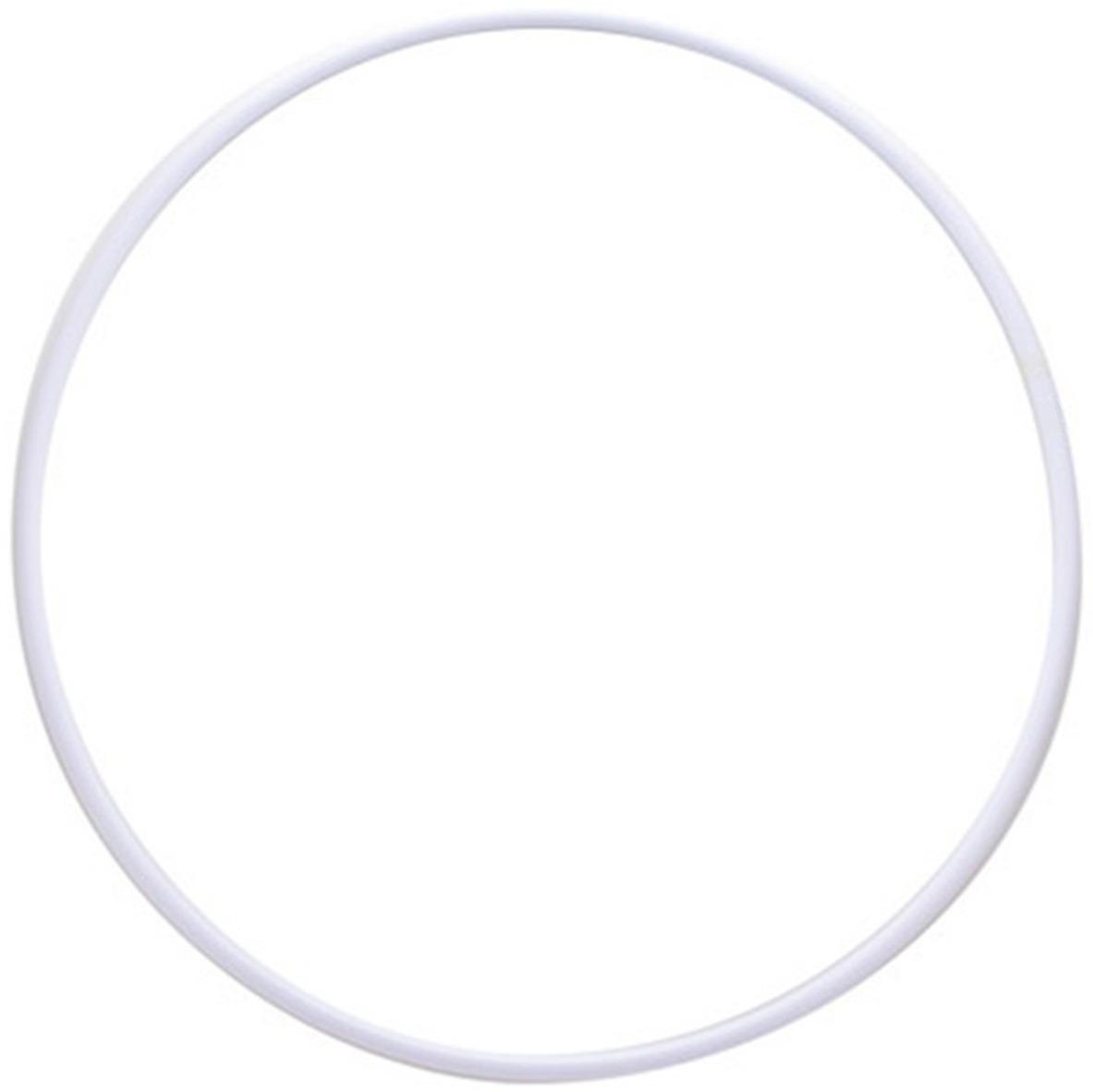 Обруч гимнастический Indigo, цвет: белый, диаметр 90 см обруч алюминиевый гимнастический d 750мм mr oal750col окрашенный
