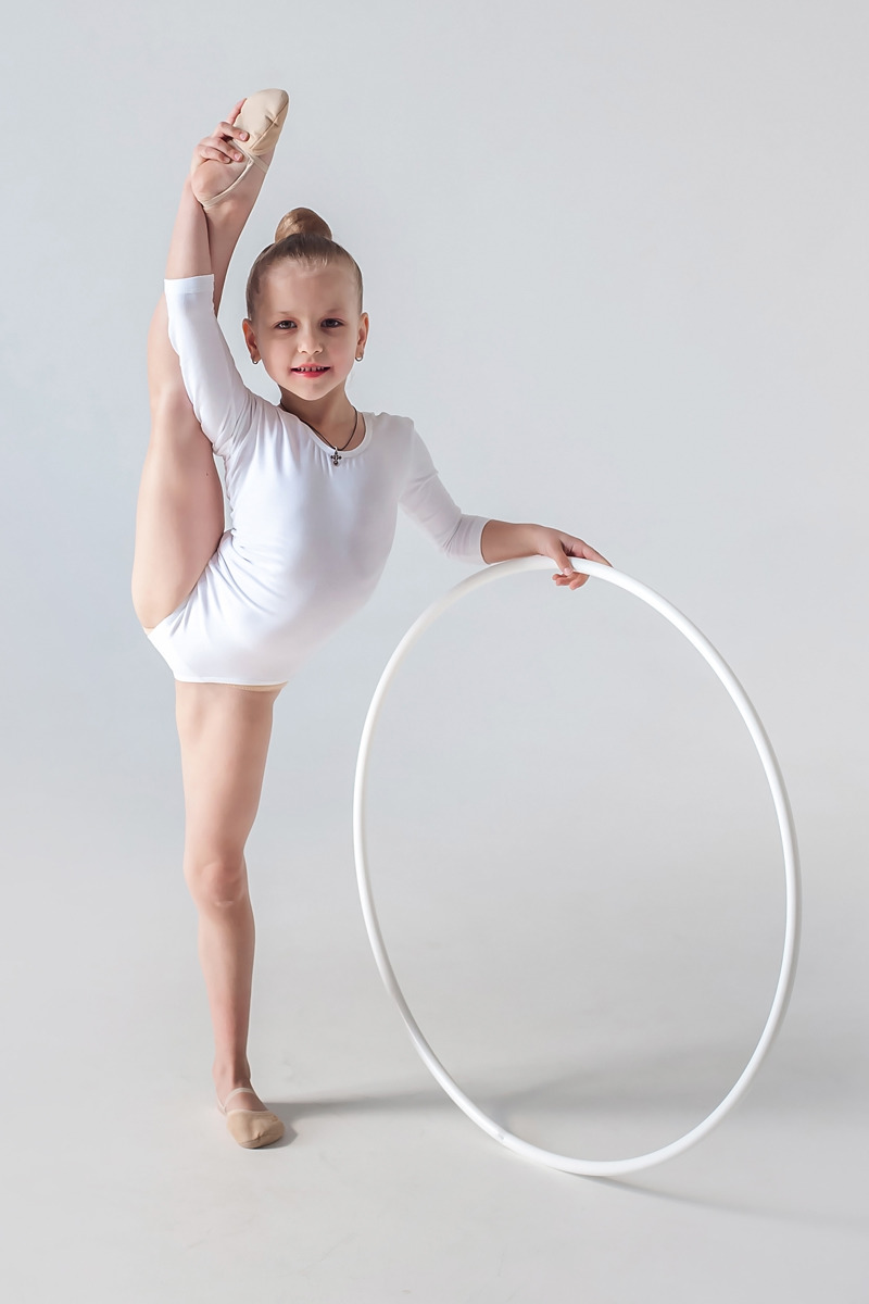 Обруч гимнастический Indigo, цвет:  белый, диаметр 85 см Indigo