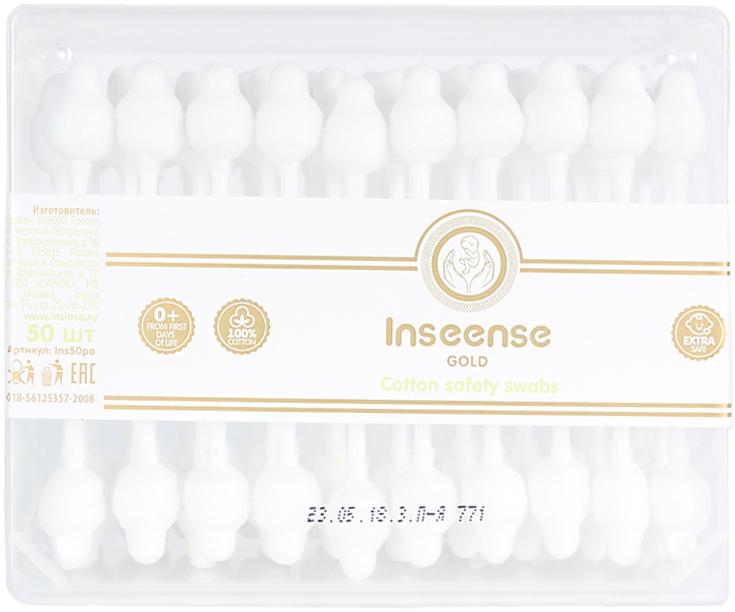 Палочки ватные Inseense, для детской гигиены, с ограничителями, 50 шт палочки ватные inseense для детской гигиены с ограничителями 50 шт