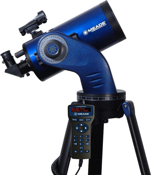 Телескоп Meade StarNavigator NG 125 мм Maksutov, с пультом AudioStar, Blue телескоп meade ds 2130ats lnt серии ii
