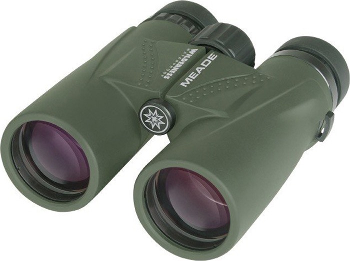 Бинокль Meade Wilderness 10x42, Green бинокль meade rainforest pro 10x32