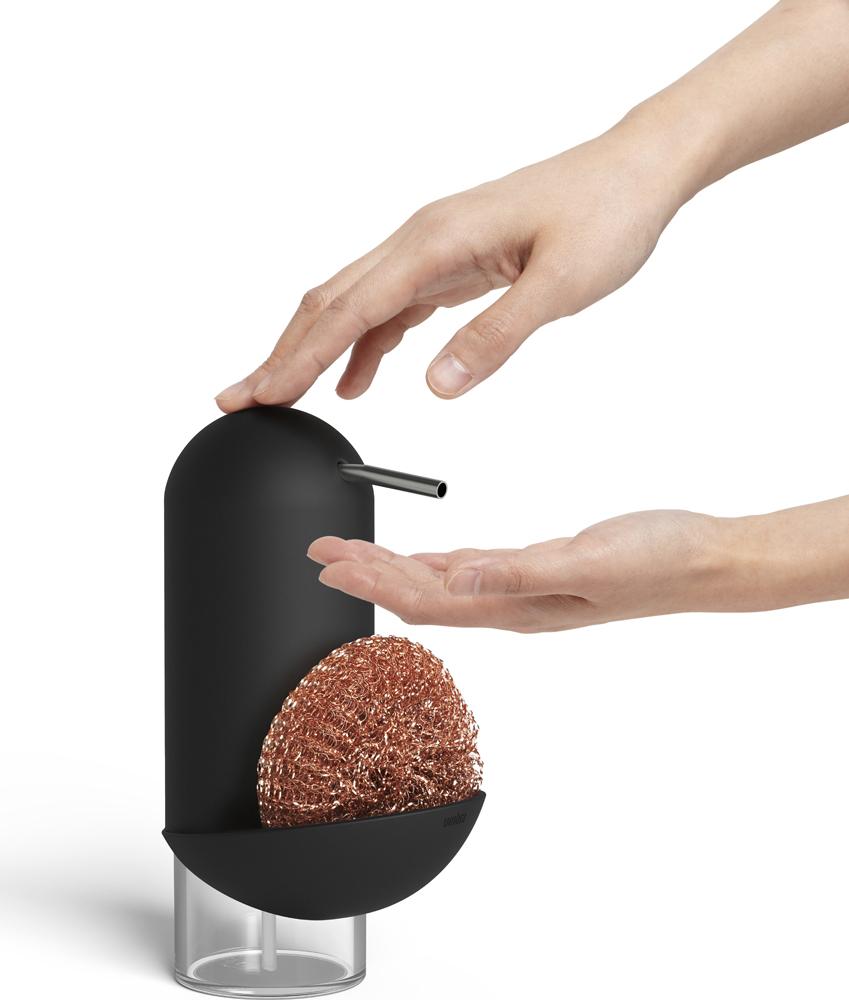 Диспенсер для мыла Umbra Penguin, 2 в 1, цвет: черный, 355 мл диспенсер umbra joey white 330750 660