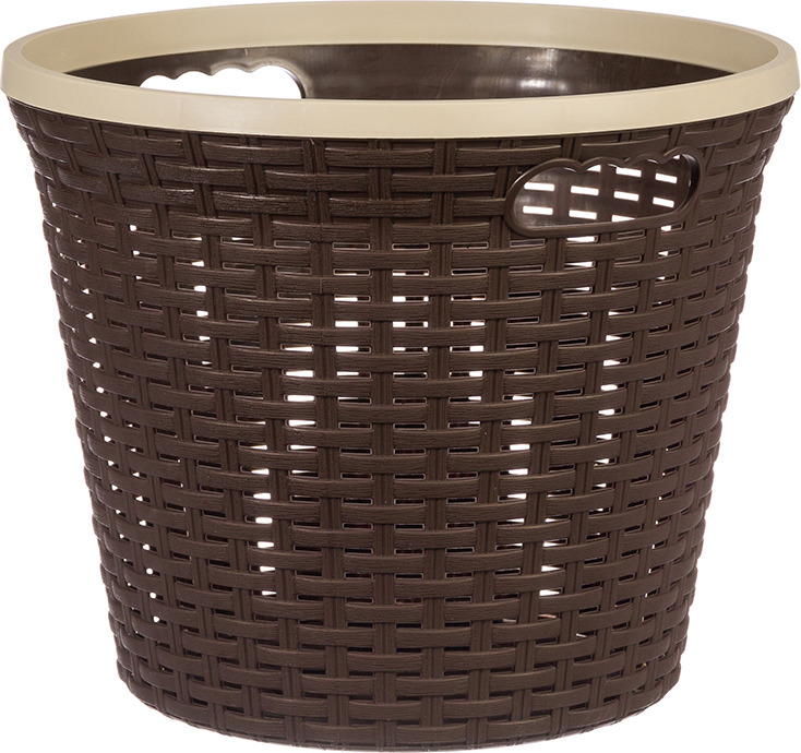 Корзина для хранения Violet Ротанг, цвет: коричневый, 20 л корзина для хранения violet ротанг цвет бежевый 15 л