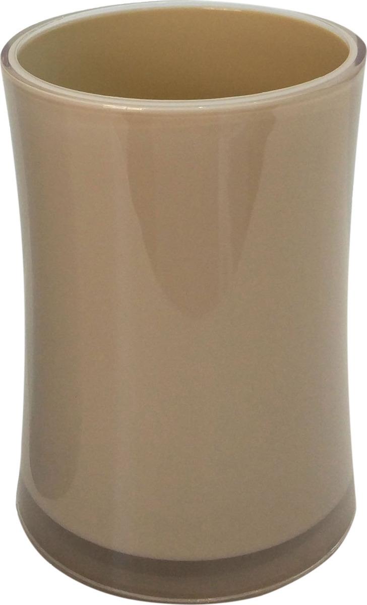 Стакан ACRILICA выполнен из акрила кремового цвета, в нем удобно хранить зубные щетки или другие принадлежности. Благодаря оригинальному дизайну и компактному размеру стакан будет изысканно смотреться в Вашем интерьере.