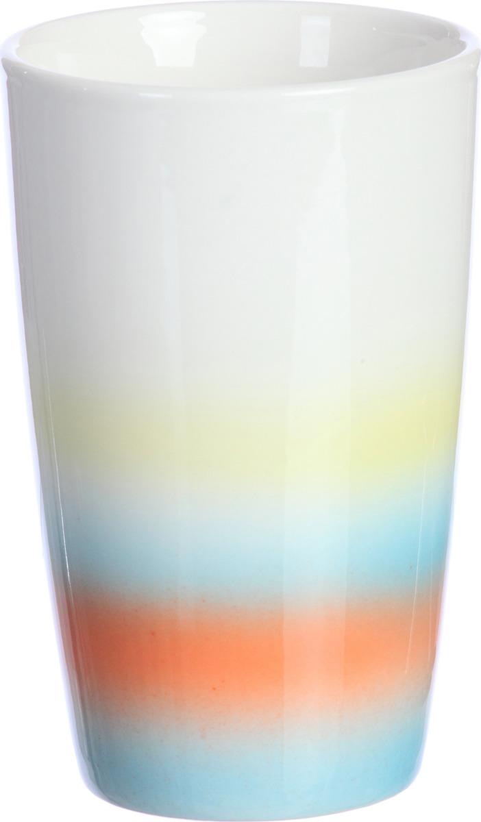 """Стакан """"Пляж"""" выполнен из керамики, в нем удобно хранить различные принадлежности. Сочетающиеся между собой цвета коллекции создадут летнее настроение в Вашей ванной комнате."""