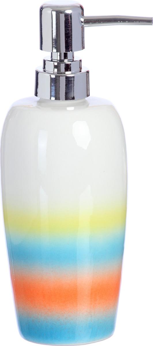 """Дозатор """"Пляж"""" выполнен из керамики. Сочетающиеся между собой цвета коллекции создадут летнее настроение в Вашей ванной комнате."""