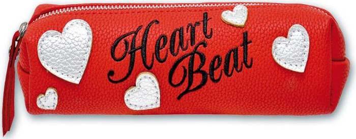 Сердца на молнии пенал школьный феникс сердца без наполнения 20 6 6см искусственная кожа 46088